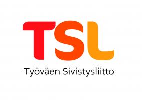TSL logo, vaakalogo tunnusosalla sekä slogan